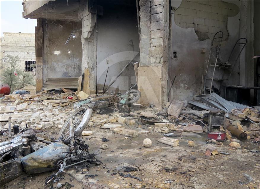 Esed'in İdlib'e hava saldırıları devam ediyor galerisi resim 5