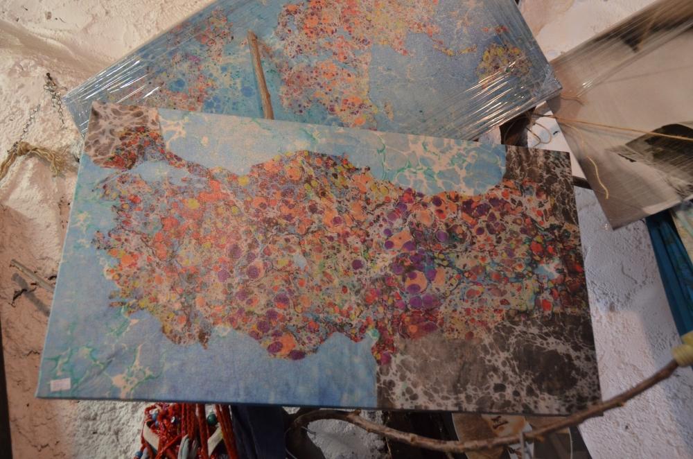 Ebru sanatı ile kendine özgü kıyafetler galerisi resim 3