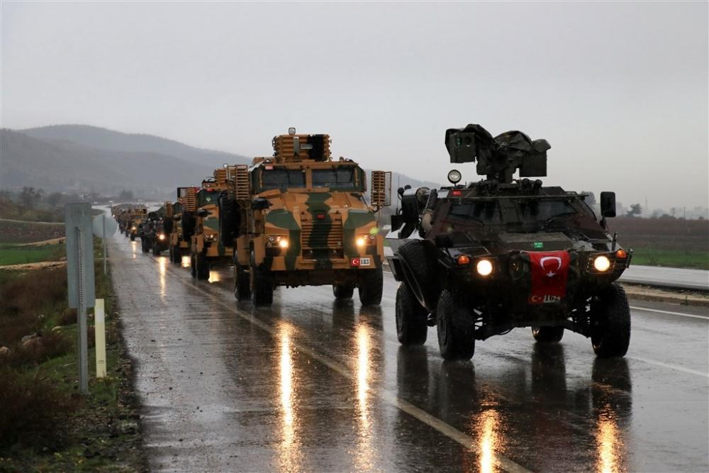 Çok sayıda zırhlı araç Afrin'e girmek için sınıra ulaştı galerisi resim 34