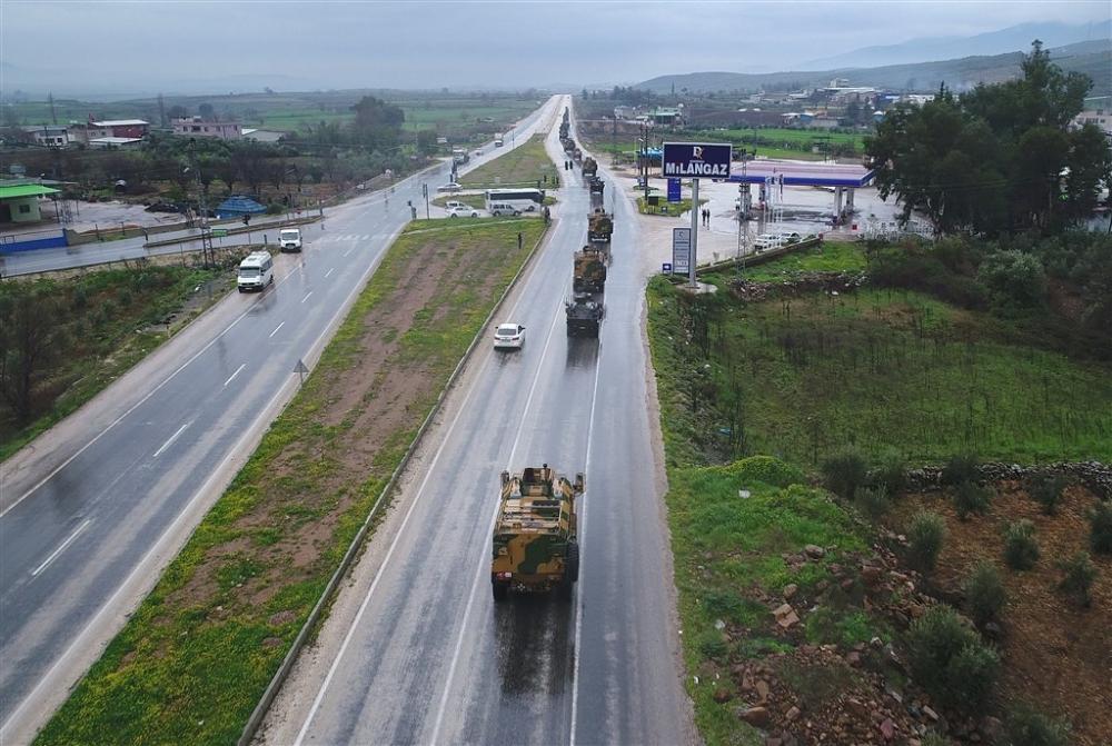 Çok sayıda zırhlı araç Afrin'e girmek için sınıra ulaştı galerisi resim 5