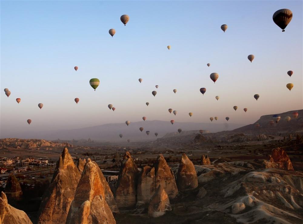 Kapadokya sıcak hava balonları galerisi resim 6