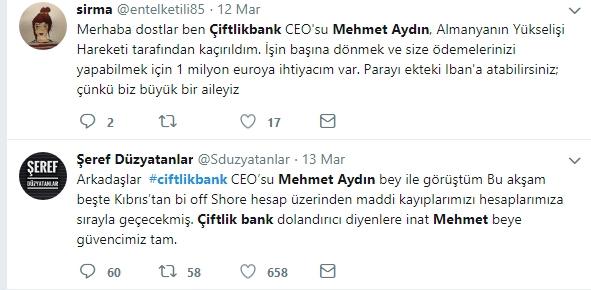 Çiftlik Bank'ın sahibi Mehmet Aydın'ın için atılan Tweetler galerisi resim 11