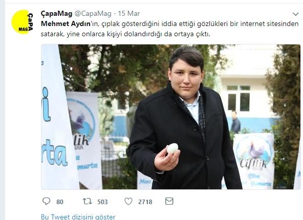 Çiftlik Bank'ın sahibi Mehmet Aydın'ın için atılan Tweetler galerisi resim 5