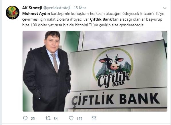 Çiftlik Bank'ın sahibi Mehmet Aydın'ın için atılan Tweetler galerisi resim 8