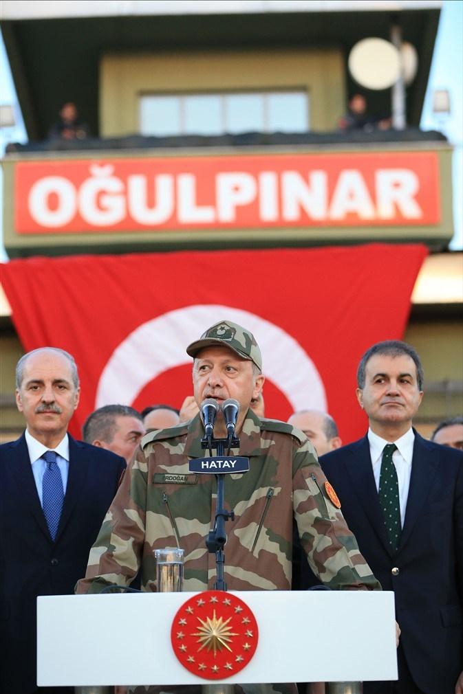 Erdoğan ve ünlü isimler sınırda askere moral verdi galerisi resim 34