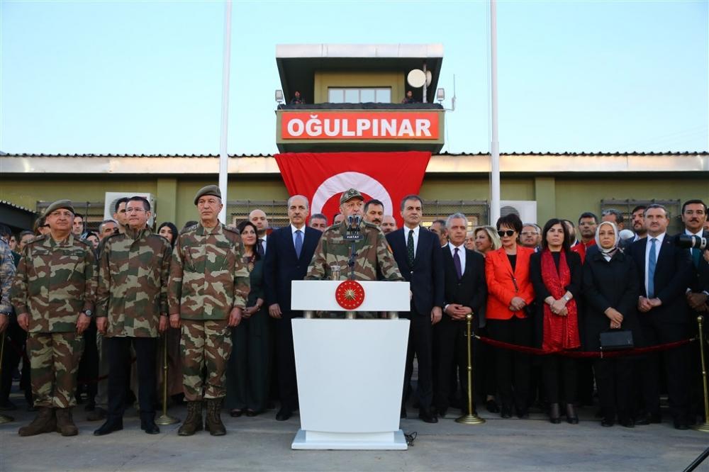 Erdoğan ve ünlü isimler sınırda askere moral verdi galerisi resim 56
