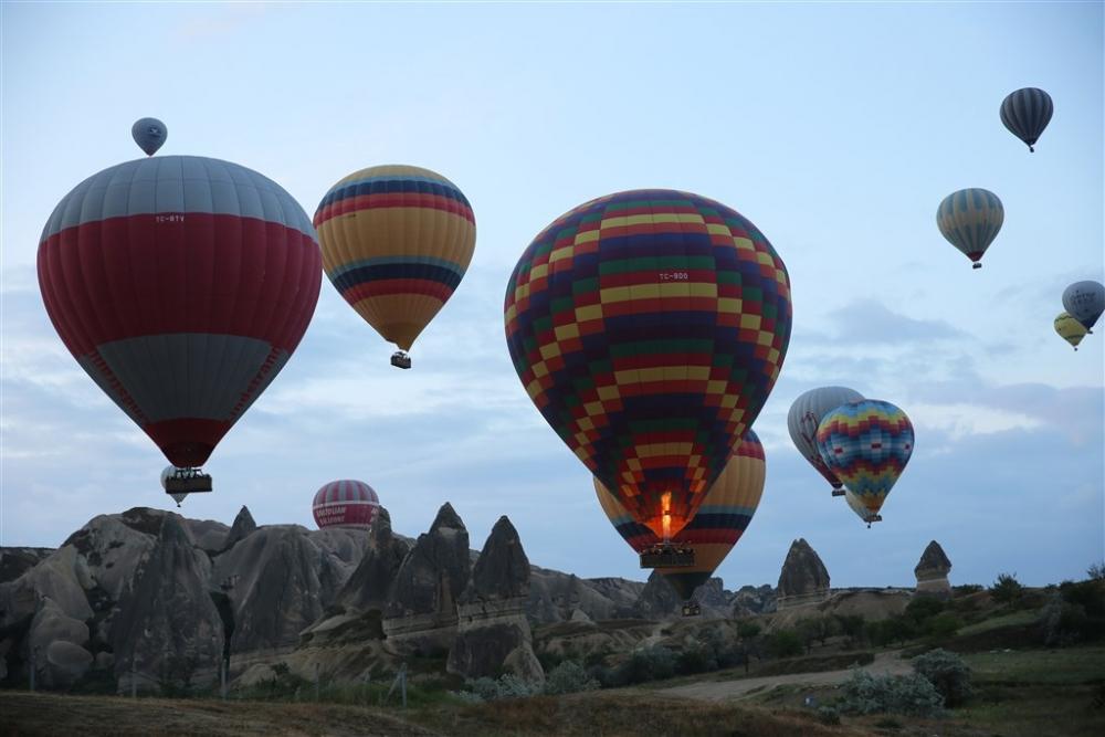 Sıcak hava balonları yeniden havalandı galerisi resim 1