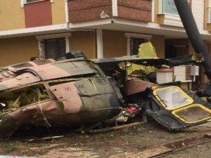 Sancaktepe'de helikopter düştü! İlk fotoğraflar...