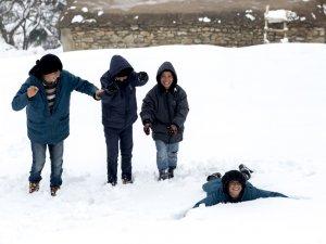 Diyarbakır'da kış mevsiminde köyde yaşam