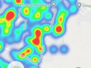 Ankara'nın koronavirüs yoğunluk haritası güncellendi