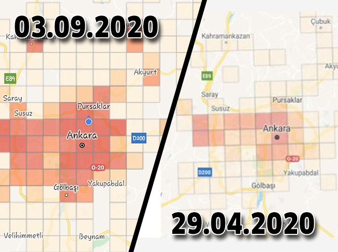 Ankara korona haritası, Renk Kırmızıya döndü! galerisi resim 1