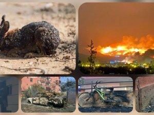 Hatay'daki yangın kontrol altına alındı geride bu fotoğraflar kaldı