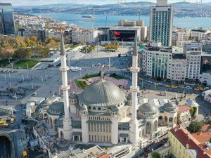 Taksim'e yapılan cami ramazanda açılıyor