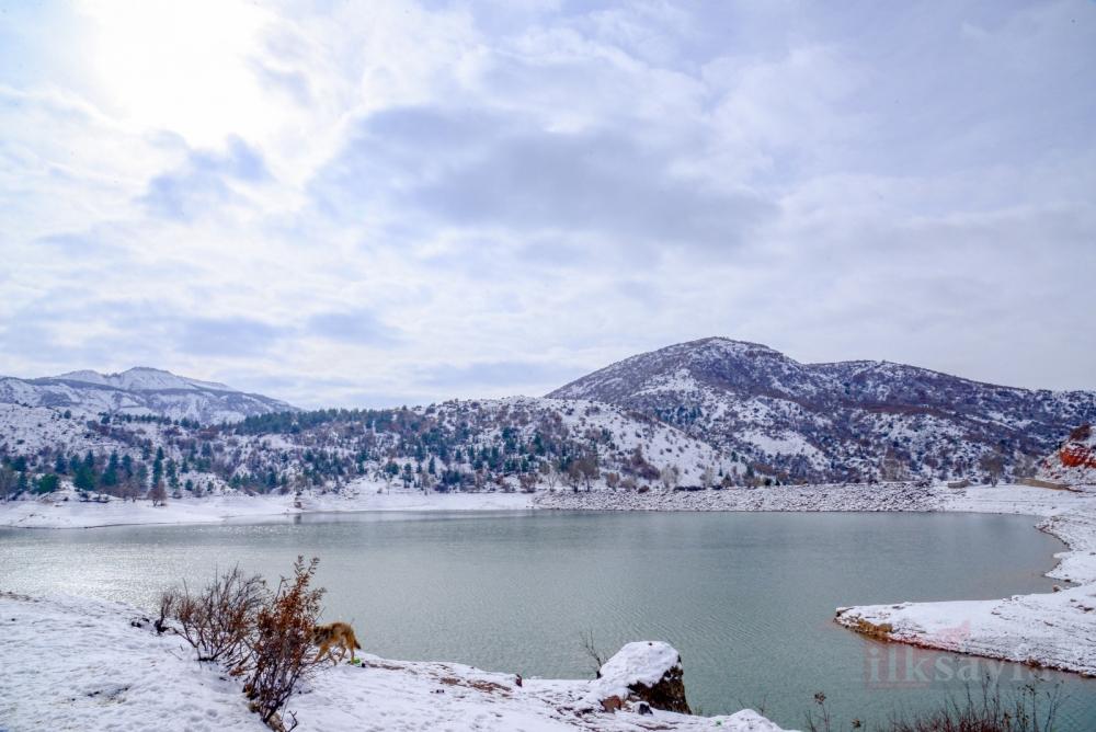 Kar, Kahramankazan'ı beyaza bürüdü - kartpostallık görüntüler oluşt galerisi resim 1