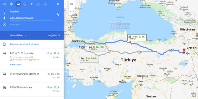 İstanbul Ağrı arası kaç km? İstanbul Ağrı arası kaç saat? İstanbul Ağrı Yol Tarifi, İstanbul Ağrı Otobüs Bileti Fiyatları...