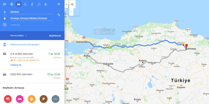 İstanbul Amasya arası kaç km? İstanbul Amasya arası kaç saat? İstanbul Amasya Yol Tarifi, İstanbul Amasya Otobüs Bileti Fiyatları...