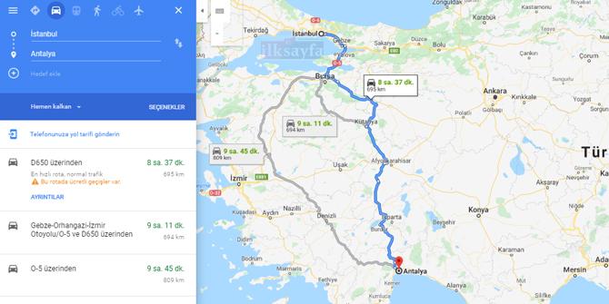 İstanbul Antalya arası kaç km? İstanbul Antalya arası kaç saat? İstanbul Antalya Yol Tarifi, İstanbul Antalya Otobüs Bileti Fiyatları...