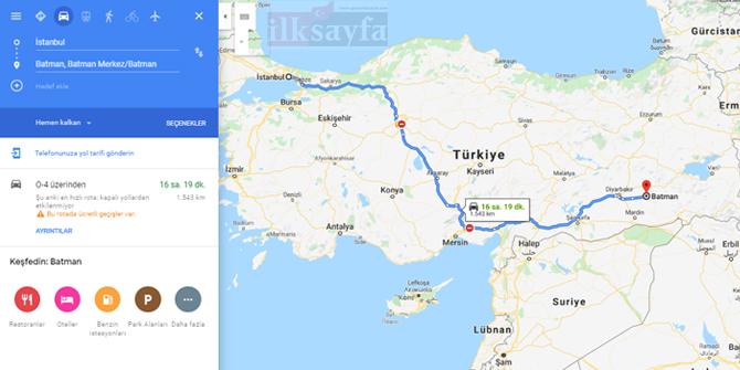 İstanbul Batman arası kaç km? İstanbul Batman arası kaç saat? İstanbul Batman Yol Tarifi, İstanbul Batman Otobüs Bileti Fiyatları...