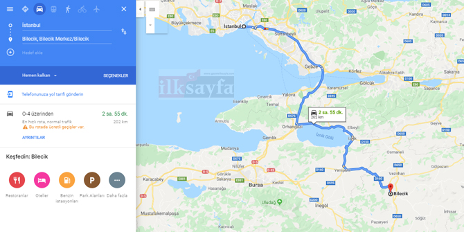 İstanbul Bilecik arası kaç km? İstanbul Bilecik arası kaç saat? İstanbul Bilecik Yol Tarifi, İstanbul Bilecik Otobüs Bileti Fiyatları...