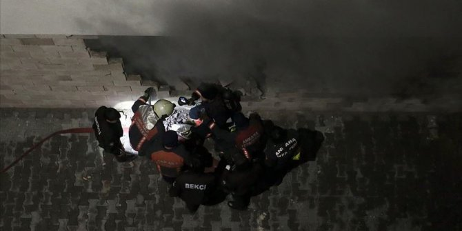 Ankara Karapürçek'te bir yangın daha