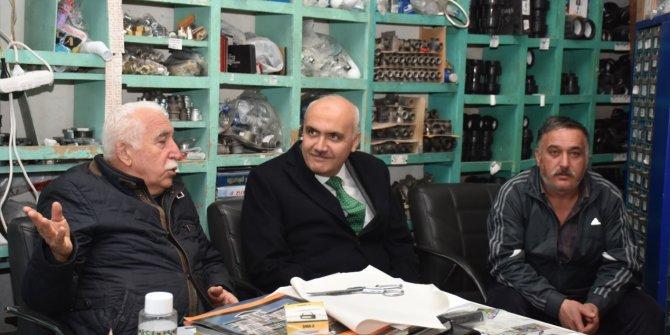 Kızılcahamam Belediye Başkanı Süleyman Acar esnaf ziyaretlerine devam ediyor