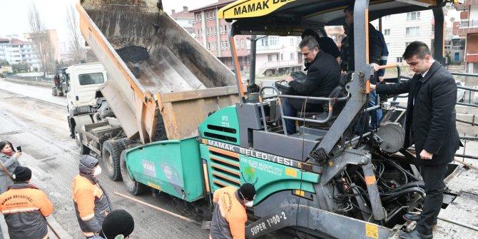 Mamak Belediyesi bir yılda 44 milyon kg asfalt serimi gerçekleşti