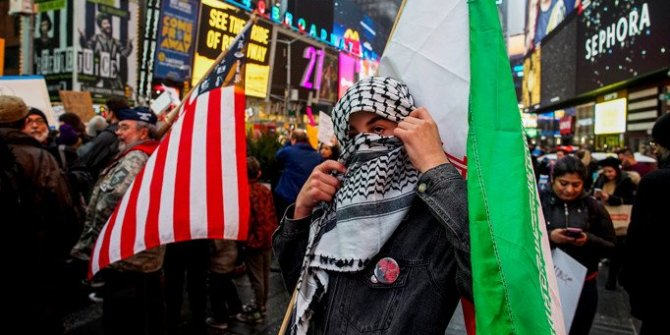 ABD'de savaş karşıtı protesto