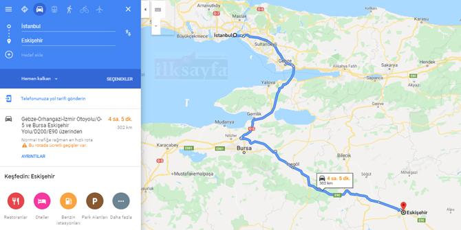 İstanbul Eskişehir arası kaç km? İstanbul Eskişehir arası kaç saat? İstanbul Eskişehir Yol Tarifi, İstanbul Eskişehir Otobüs ve YHT Bileti Fiyatları...