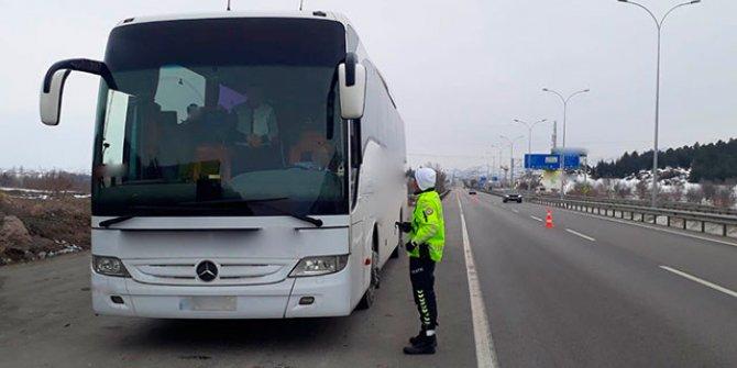 Emniyetten otobüs denetimi