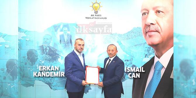 AK Parti Haymana İlçe Başkanlığı görevine İsmail Can atandı