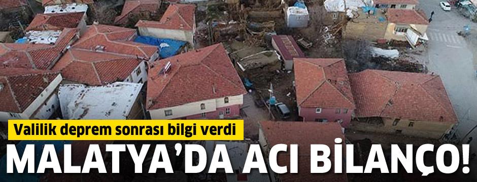 Malatya Valiliği, deprem bilançosunu açıkladı