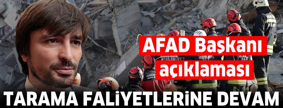 AFAD Başkanı Güllüoğlu: Enkazdaki son vatandaşımızın cansız bedenine ulaşıldı