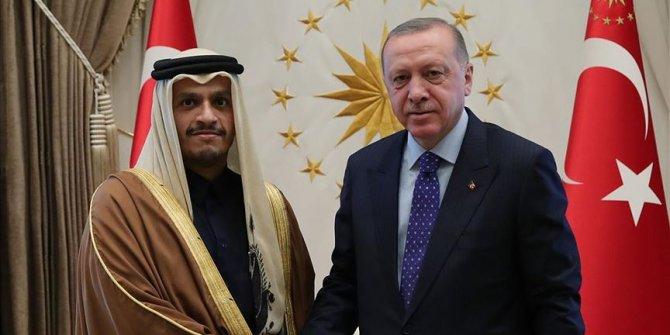Cumhurbaşkanı Erdoğan Katar Başbakan Yardımcısı Al Sani'yi kabul etti