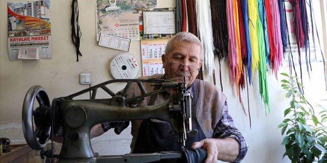 Çankırı'da 59 yıldır ayakkabı işi yapıyor