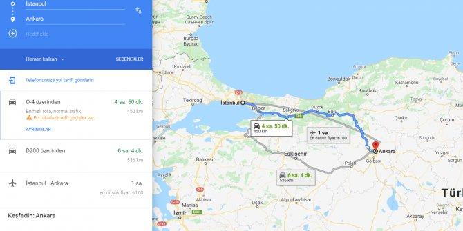İstanbul Ankara arası kaç km? İstanbul Ankara arası kaç saat? İstanbul'dan Ankara'ya nasıl gidilir?