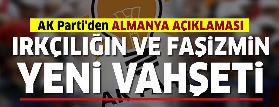 AK Parti'den ırkçı saldırıya tepki: Bu yeni vahşeti