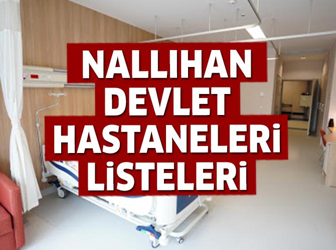 Nallıhan Devlet Hastaneleri Listesi.. Nallıhan'daki Devlet Hastanelerinin Adresleri ve Telefonları 2020