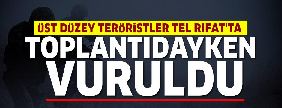 MSB duyurdu: Üst düzey teröristler Tel Rıfat'ta toplantıdayken vuruldu