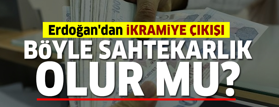 Cumhurbaşkanı Erdoğan'dan ikramiye açıklaması: Böyle bir sahtekarlık olur mu?