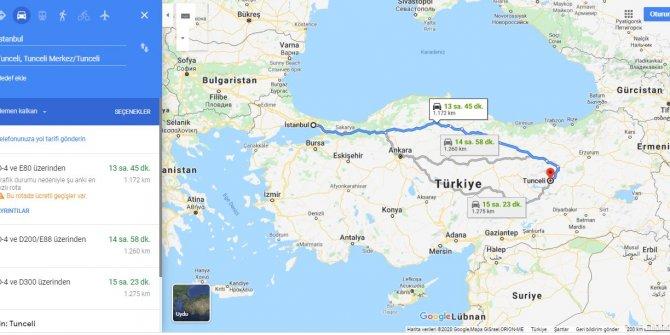 İstanbul Tunceli arası kaç km? İstanbul Tunceli arası kaç saat? İstanbul'dan Tunceli'ye nasıl gidilir?