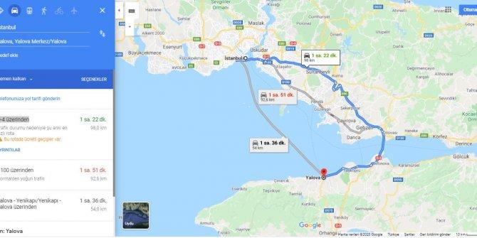 İstanbul Yalova arası kaç km? İstanbul Yalova arası kaç saat? İstanbul'dan Yalova'ya nasıl gidilir?