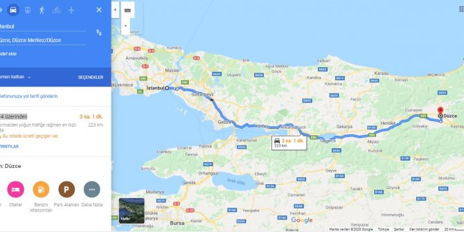 İstanbul Düzce arası kaç km? İstanbul Düzce arası kaç saat? İstanbul'dan Düzce'ye nasıl gidilir?