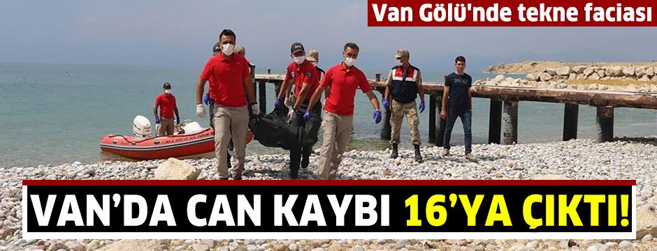 Van'daki tekne faciasında ölü sayısı 16 oldu
