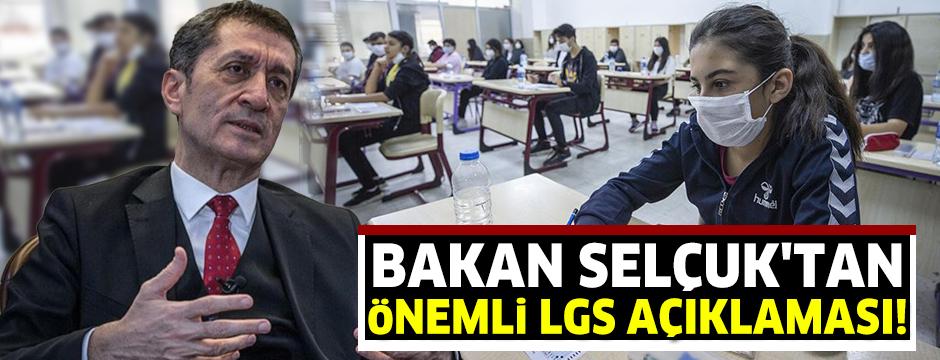 Milli Eğitim Bakanı Selçuk: LGS kapsamındaki merkezi sınavda soru iptali olmadı