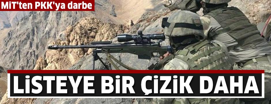 MİT'in operasyonunda etkisiz hale getirilen terörist 'gri liste'den