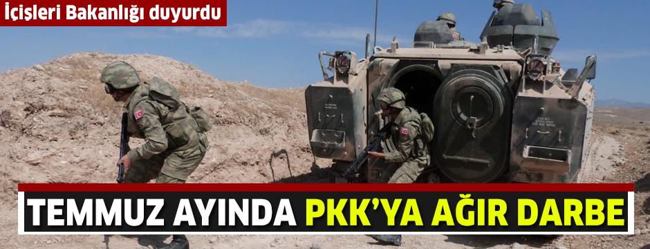 Temmuz ayında PKK'ya ağır darbe: 105 terörist etkisiz hale getirildi