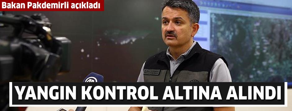 Tarım ve Orman Bakanı Pakdemirli: Antalya'daki yangın kontrol altına alındı