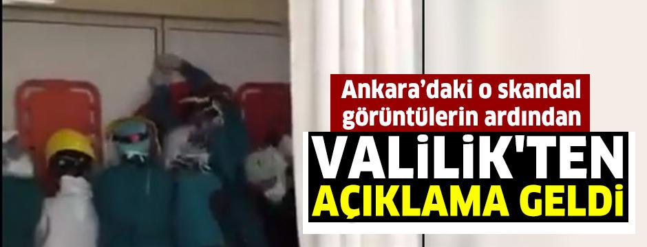 Ankara'da hastanedeki bu görüntülerin ardından Valilik'ten açıklama geldi