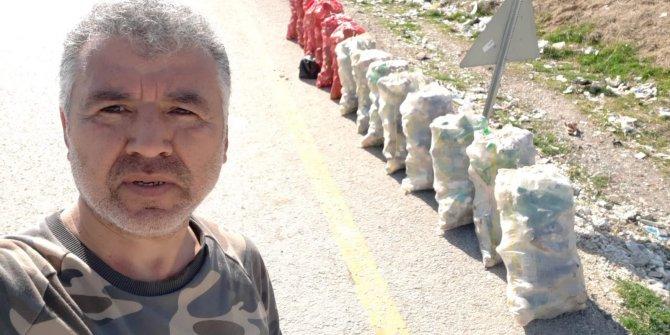 521 cam şişe çöp topladı - ELLERİNE SAĞLIK