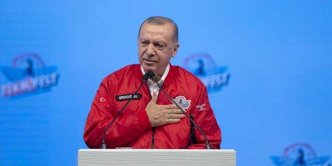 Cumhurbaşkanı Erdoğan: Türk ekonomisi yeni rekorlara koşmaya devam edecektir